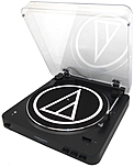 Audio-technica Fully Automatic Wireless Belt-drive Stereo Turntable - Belt Drive - Automatic - 33.33, 45 Rpm - Black At-lp60bk-bt