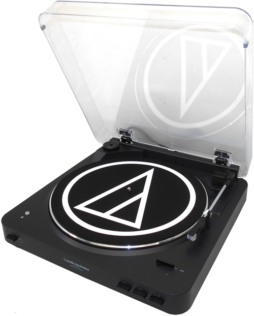 Audio-technica Fully Automatic Wireless Belt-drive Stereo Turntable - Belt Drive - Automatic - 33.33, 45 Rpm - Black