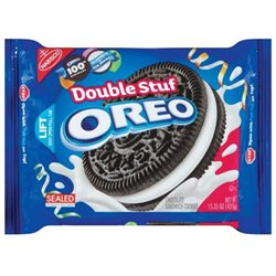 Nabisco Chocolate Sandwich Cookies, Double Stuf, 15.35 oz