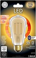 GE 043168330244 LED vintage style bulbs combine the retro look of antique incandescent bulbs with the benefits of LED