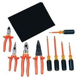 W H Salisbury 9 Piece Set Basic Electrician Insulated Tool Kit