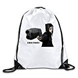 Ergo Proxy Manglobe Anime Dai SatÅ Science Fiction White Drawstring Backpack Sport Bag For Men&women