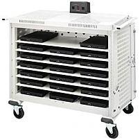 Bretford Basics Lap20ulh-ct 20 Unit Notebook Storage Cart - Front And Rear Access Doors