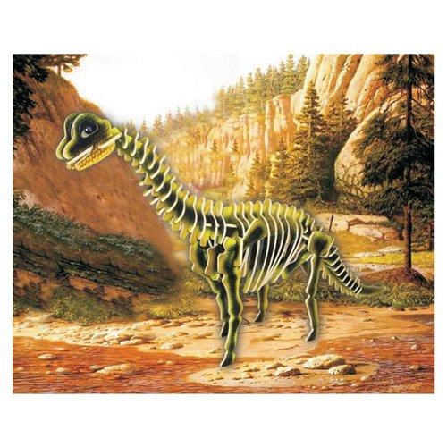 Puzzled Brachiosaurus Illuminated 3D Puzzle
