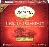 Twinings English Breakfast Tea, Tea Bags, 50-Count Boxes (Pack of 6)