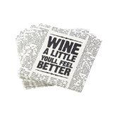 True  by True Fabrications Newspaper Wine Themed 5x5
