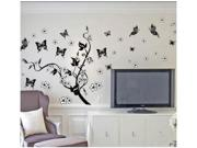 Sitting Room Waterproof   Of European Pure Black Cane Send Flowers Butterfly Wall Stickers In The Background 7005pvc 10 Decal
