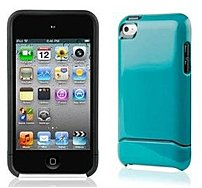 The Contour Flick Touch 4G Case, in Turquoise, is a two piece polycarbonate case for your iPod touch