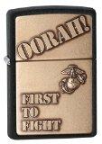 Zippo Marine Corp Oorah Crackel Lighter (Black, 5 1/2 x 3 1/2-cm)