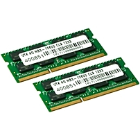 Visiontek 2 X 4gb Pc3-10600 Ddr3 1333mhz 240-pin Dimm Memory Module - 8 Gb (2 X 4 Gb) - Ddr3 Sdram - 1333 Mhz Ddr3-1333/pc3-10600 - 1.50 V - Non-ecc - Unbuffered - 204-pin - Sodimm 900453