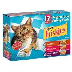 Friskies Cat Food, Original Loaf Variety Pack, 12 - 5.5 oz cans