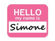 Simone Hello My Name Is Mousepad Mouse Pad