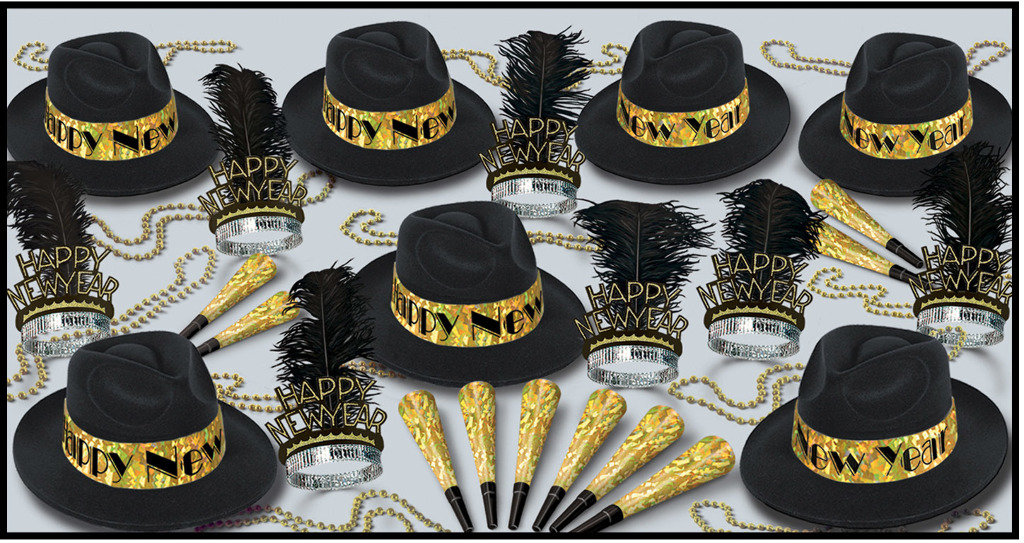 Swingin' Gold New Year Party Assortment for 50