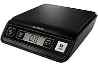 The Dymo Pelouze 1772056 M5 Postal Scale you an weigh envelopes and packages up to 5 lbs   without a trip to the Post Office or mailroom