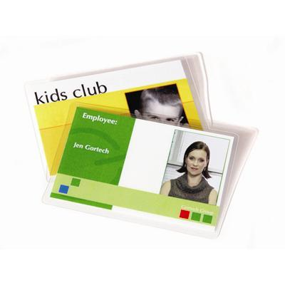 Fellowes 52016 Id Tag Punched - 5 Mil - 100-pack - Glossy - Cr-100 Card (3.9 In X 2.6 In) Lamination Pouches
