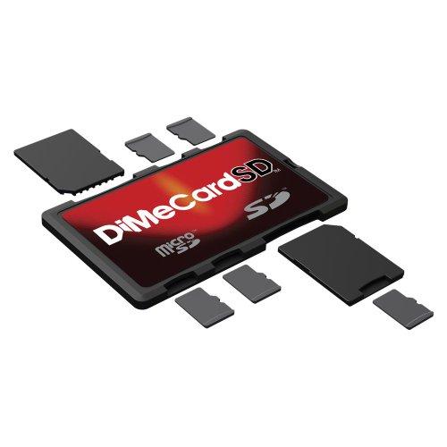 DiMeCard-SD: SD   microSD Memory Card Holder (credit card size holder, writable label)