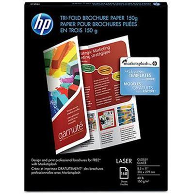 Hp Inc. Q6612a Tri-fold Brochure Paper - Glossy - 5.5 Mil - 8.5 In X 11 In - 160 G/m² - 150 Sheet(s) Photo Paper - For Laserjet 3200  Laserjet Enterprise Cm4540