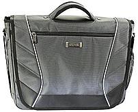 The Kenneth Cole 539458 Reaction Rock Paper Scissors Laptop Messenger Bag features a sturdy carry handle