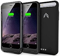 Avier Av-bp602-101 Ip31 Slim Fit Battery Case For Iphone 6 - 3100 Mah - Black And Smoke Frames