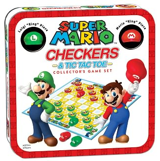 Super Mario Checkers & Tic Tac Toe Collector's Edition