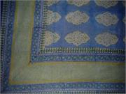 Kensington Tapestry Block Print Bedspread Coverlet Twin
