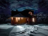 Noapte de Iarna - Art Print on Canvas (40x60 cm, unframed)