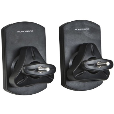 Monoprice 11410 Speaker Wall Mount Brackets (pair) - Black
