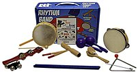 The Rhythm Band BB225RS Bing Bang Boom Rhythm Band includes 10 of the most popular hand percussion instruments bundled with the Animated Bing, Bang Boom DVD created by master music educator Bradley Bonner M