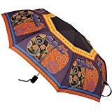 Laurel Burch Compact Umbrella 42-Inch Canopy Auto Open/Close, Feline Family Portrait