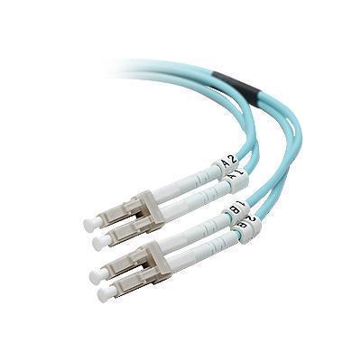 Belkin F2f402ll-03m-g 10 Gig Aqua - Patch Cable - Lc Multi-mode (m) - Lc Multi-mode (m) - 10 Ft - Fiber Optic - 50 / 125 Micron - Om3 - Aqua - B2b