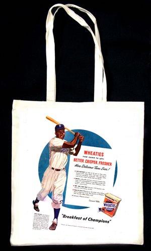 Wheaties-Cereal-Advert-Jackie-Robinson-(Baseball) TOTE BAG