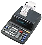 Contemporary and professional printing calculator offers fast, two color ribbon printing