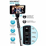 iBower High-Impact Selfie Stick with Wireless Shutter Control for iOS and Android Devices