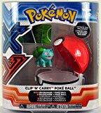 Pokemon X & Y TOMY Clip 'n' Carry Poke Ball ~ Bulbasaur Figure