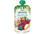 Gerber Organic 3rd Foods Pouch Apple Purple Carrots & Blueberries With Yogurt