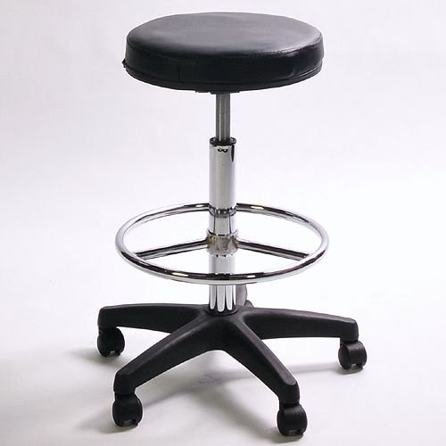 ePhoto MS1002 Pneumatic Adjustable Padded Posing Stool with Foot Rest