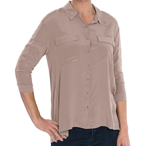 Avec Knit-and-Woven Shirt - 3/4 Sleeve (For Women)