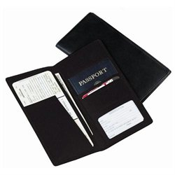 Leather Ticket and Passport Holder
