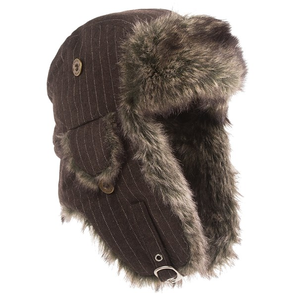 Chaos Moonshadow Pinstripe Aviator Hat - Faux-Fur Lining (For Men)