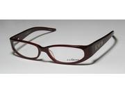 John Richmond 00104 Eyeglasses In Color Code Burgundy In Size:52/15/125