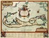 Old International Maps - BERMUDA LANDOWNER BY BLAEU 1630 - Glossy Satin Paper