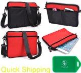 Neoprene sleeve messenger bag in Black/Fire Red Universal fit for Sylvania SDVD1048-2