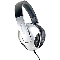 Syba Multimedia Oblanc Cobra Silver Subwoofer Headphone W/in-line Microphone - Stereo - Silver, Black - Mini-phone - Wired - 32 Ohm - 20 Hz - 20 Khz - Gold Plated - Over-the-head - Binaural - Circumaural - 5.17 Ft Cable Og-aud63050