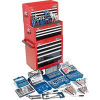 Draper Deluxe 7 Drawer Tool Top Chest & Roller Cabinet Combination with Tools Worth £1035