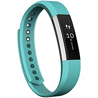 Fitbit Alta Smart Band - Wrist - Accelerometer - Calendar, Silent Alarm, Text Messaging - Sleep Quality, Calories Burned, Steps Taken, Distance Traveled - Bluetooth - Bluetooth 4.0 - 120 Hour - Teal - Elastomer Clasp, Stainless Steel - Health & Fitness, C Fb406tes