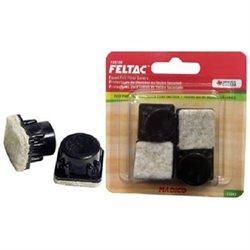 Madico 13/16 Straight Square Black Fused Felt Insertion Glides Floor Savers
