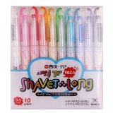 Dong-a Shiny Shavet Long Deco Pen or Instax Mini Film Polaroid Photo Nail Art (Pack of 10)