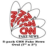 5-pack CNN Fake News Funny Bumper Sticker Decal