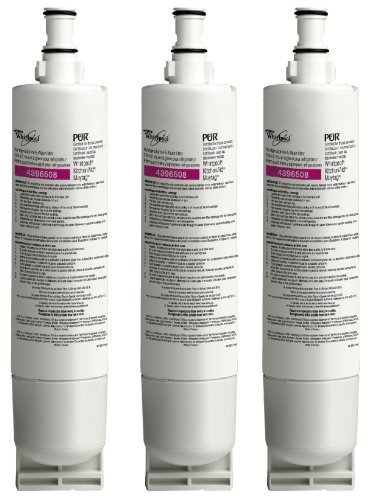 Whirlpool 4396508T KitchenAid MayTag Side-by-Side Refrigerator Water Filter, 3-Pack