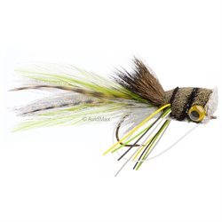Umpqua Deerhair Bass Bug Frog Fly Fishing Bass, Surface Size 2 - 1 Pack